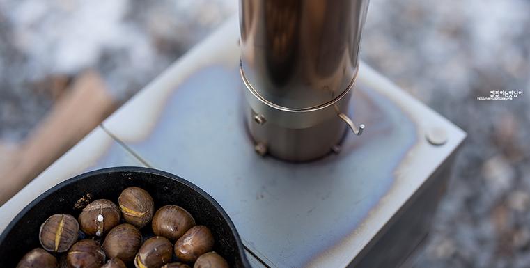 [블로거리뷰] 1.7Kg 조립식 화목난로-헬로달리 티타늄난로